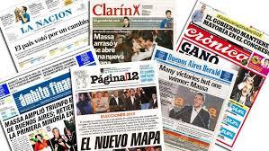 Tapas de los principales diarios de Argentina