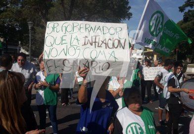 Trabajadores de ATE y SiPrUs se manifiestan por las paritarias