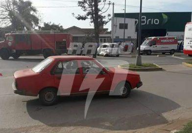 Fuerte accidente de tránsito en Blas Parera