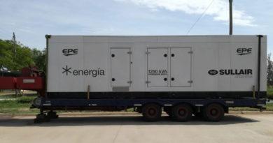Energía eléctrica: Dos nuevos generadores y corte de cinco horas