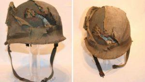 En el anonimato compraron el casco del soldado de Malvinas y se lo entregarán al héroe argentino