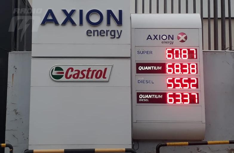 Los precios de la estación de servicio Axion