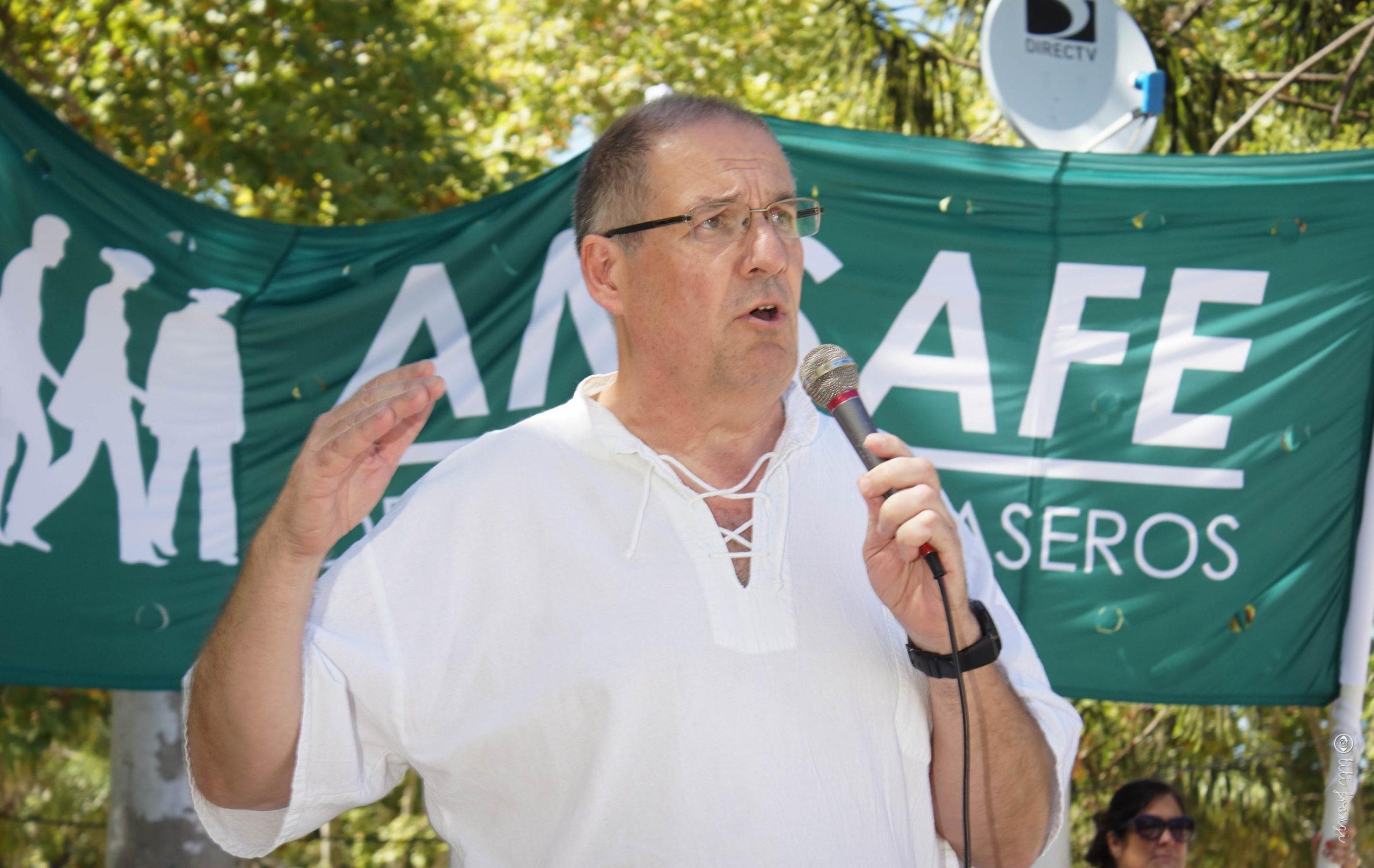 Armando Yualé, Secretario General de Amsafé en el Departamento Casilda