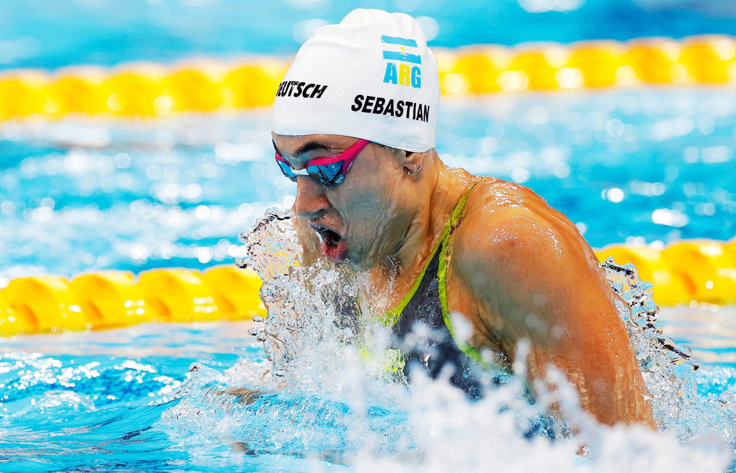 Julia Sebastián no alcanzó las semifinales en los 100 metros pecho de  natación